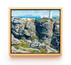 "Cliff at Beiningen I Oil on canvas 20"" x 18"" (framed)