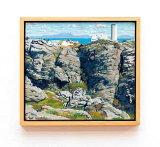 "Cliff at Beiningen I Oil on canvas 20"" x 18"" (framed) $3000.00"