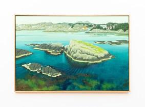 """Toward Skudeneshavn, 2007 Oil on canvas 48"""" x 72"""" (framed) $9000.00"""