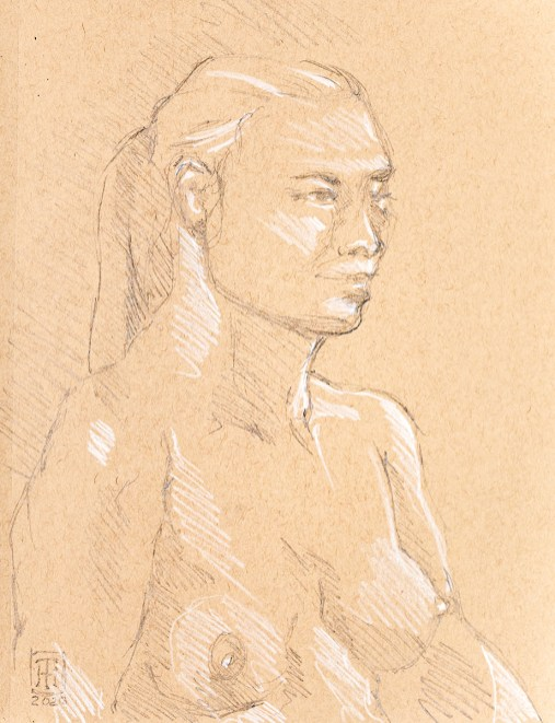 Lindsey, right 20 minute pose, 2020 Graphite $95.00