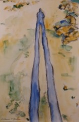 """Dusk Stretch Watercolor & charcoal on paper 11"""" x 17"""" unframed $175.00"""