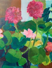 "Pink Geraniums Print on paper 8.5"" x 11"" unframed $30.00"