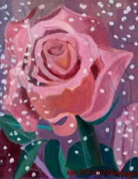 """Acrylic on watercolor paper mounted on canvas 11"""" x 14"""" $100.00"""