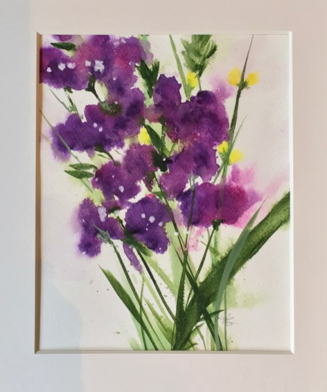 Beaming, 2020 Watercolor Matted & framed $130.00