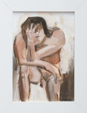 Grief in Neutrals, 2020 Oil on canvas board Framed $55.00
