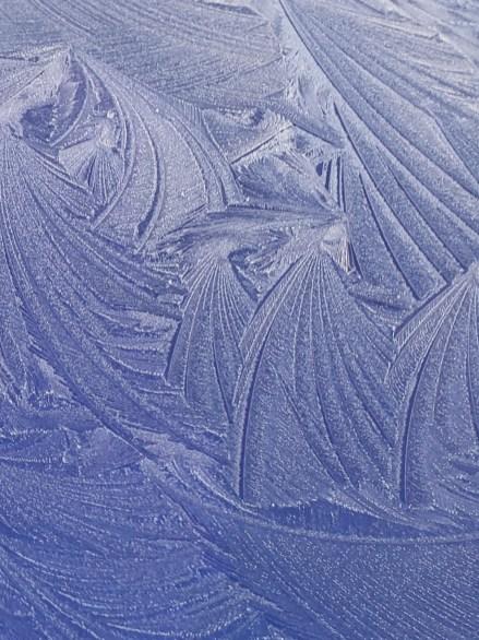 "Blue Ice Photograph 8 1/2"" x 11"" in chrome frame $36.00"