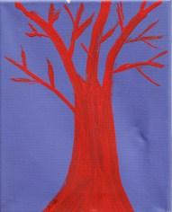 Red Tree on Indigo Acrylic on canvas $100.00