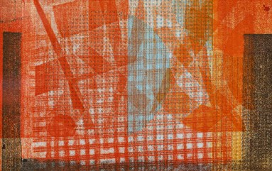Untitled, 2015 Monoprint on fabric Matted and framed SOLD!