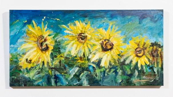 4 in the Field II, 2015 Acrylic on canvas $1200.00