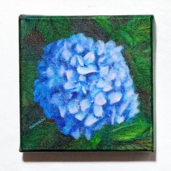 Blue Hydrangea Acrylic on canvas $125.00