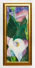 Callas I Watercolor Framed $100.00