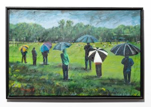 Rain Game, 2013 Acrylic on canvas Framed NFS
