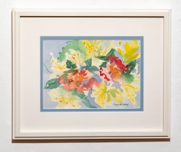 Fluid Floral Watercolor Matted & framed $725.00