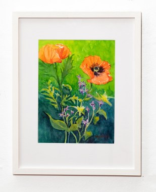 From My Garden Watercolor Matted & framed $800.00