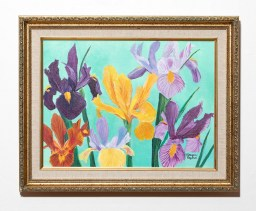 Irises Acrylic Framed $125.00