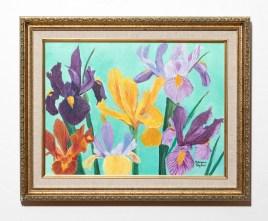 Irises Acrylic Framed $125.00