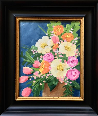 "Perfumed, 2020 Acrylic 8"" x 10"" framed $175.00"