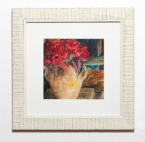 Red Peonies, 2021 Watercolor Matted & framed $500.00
