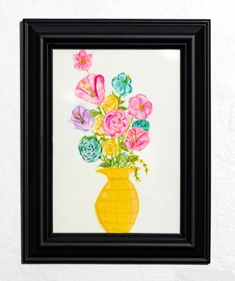 Simple, 2021 Watercolor, pen Framed $25.00