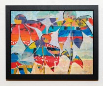 Summer Baroque I Collage with acrylic Framed $100.00