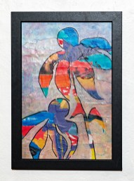 Summer Baroque II Collage with acrylic Framed $75.00