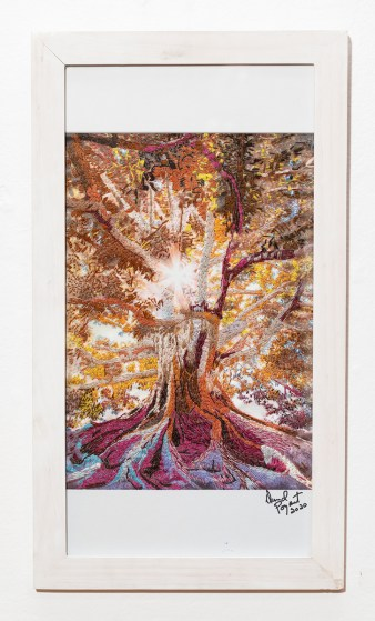 Tree of Life, 2020 Embroidery Framed $2000.00