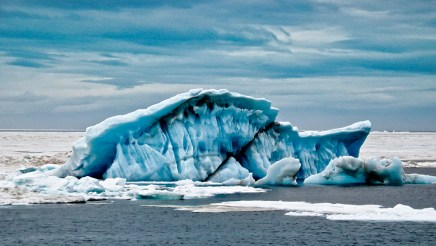 James Correia Blue Ice (North of Norway) Photograph Matted and framed $115.00
