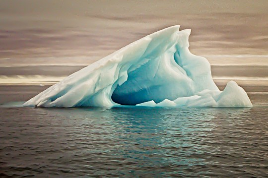 Ice Adrift (North of Norway) Photograph Matted and framed $115.00
