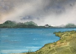 Calm Before the Storm, 2020 Watercolor Matted, framed $170.00