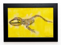 Leviathan, 2021 Conte, acrylic Framed $375.00