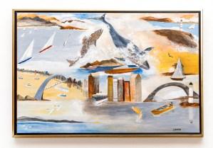 New England Nautica Acrylic on canvas Framed $800.00