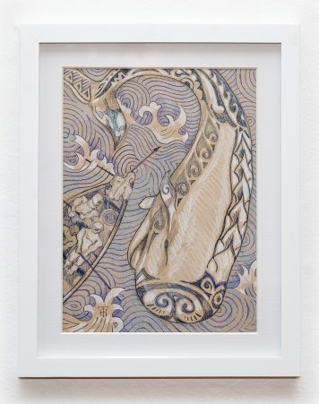 Harpooner Graphite Matted and framed $145.00