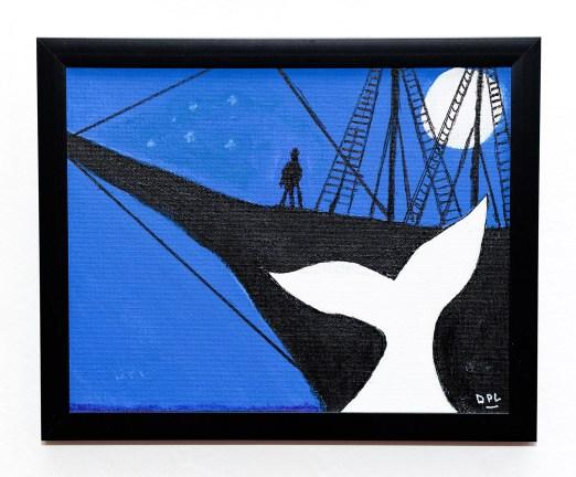White Whale, Black Ship Acrylic Framed $100.00
