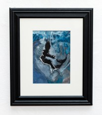 Mermaid At Heart Watercolor Matted and framed SOLD!