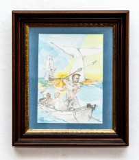 Moby Dick Watercolor Matted and framed $225.00