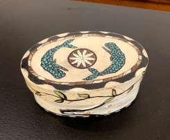 Faux Whalebone Ditty Box - 4 Wood, paint $135.00
