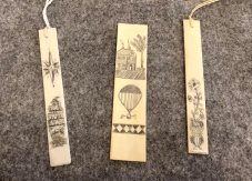 Michael Tracey Scrimshaw Bookmarks Piano key ivory $35.00/ea