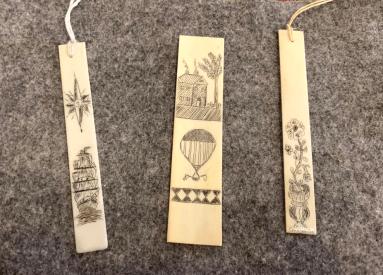 Scrimshaw Bookmarks Piano key ivory $35.00/ea