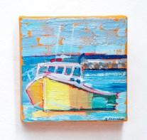 Stephanie J. Sherman Yellow, Ochre, and Green Acrylic on canvas $225.00