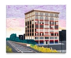 Don Hammontree Anglim Building, Brockton Acrylic & ink $225.00
