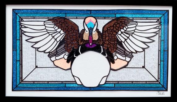 Robert Sewell Mandarin Duck Craft paper, mixed media $200