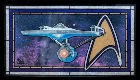 Robert Sewell Flagship of the Federation Colored pencil, mixed media NFS