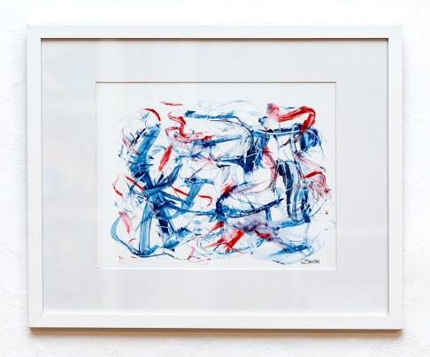 Lisa Batch Care Free Acrylic on Yupo $150