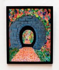 David LeComte Through the Hobbit Hole Acrylic on paint board $100