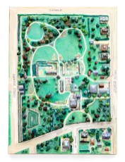 Charles Hauck James Arnold & Sarah Rotch Arnold Mansion, 1858 Mixed media 3D map From the collection of the James Arnold Mansion, Inc.