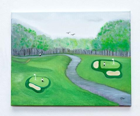 Claudia Barrilari Golfing Anyone? Oil $125