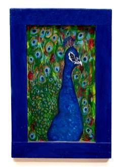 Brandt Valcourt Peacock Mixed media, varnish $135.00