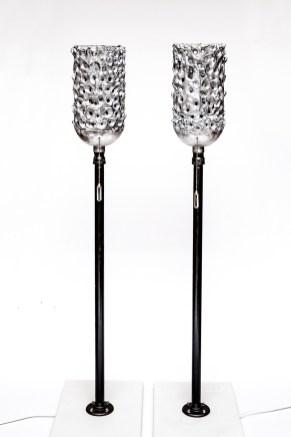 Timothy Michael Hetland Lysstau (Norwegian for Lightsticks) Sculpture $850.00/pair