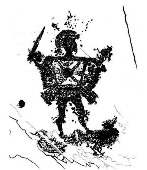 guerriero mantellato dalle campanine valcamonica