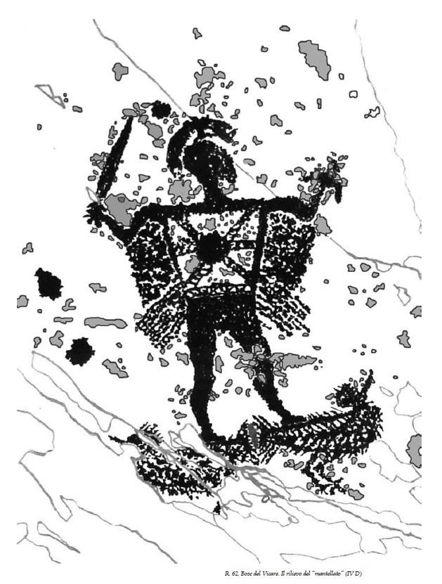 guerriero mantellato valcamonica